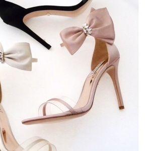 Badgley Mischka Fran Embellished Bow Ankle Strap